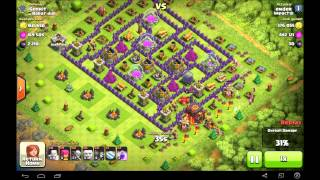 Clash of Clans | TH7 sniping TH10 collectors ~900K Loot (forgot audio)