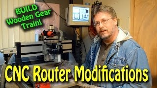 Cnc Router Modifications - Constructing A Gear Train From Wood!