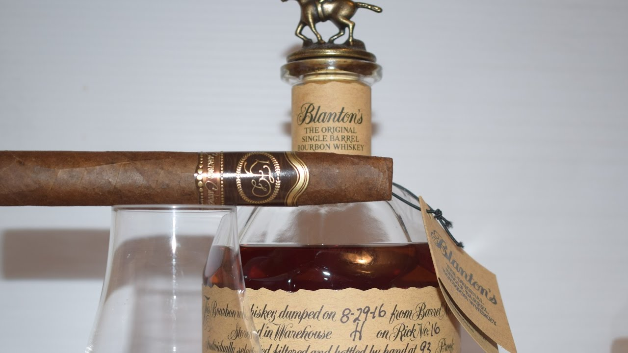 Cigar Pairing 48: Blanton's Bourbon and LFD Cameroon Cabinet - YouTube
