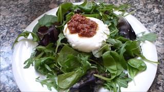 Ensalada de Burrata con Pesto Rojo, receta  paso a paso