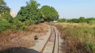 【後部展望】台湾糖業鉄道八翁線トロッコ列車新営~中興 Taiwan Sugar Railways Train Back View