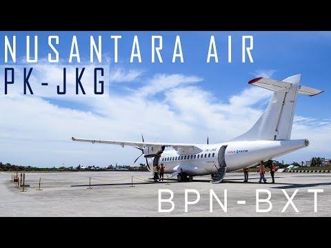 Nusantara Air Charter PK-JKG ATR 42-500 Bontang (BXT) - Balikpapan (BPN)
