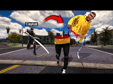 Playing GTA 5 As A NINJA! (Rampage Mod)