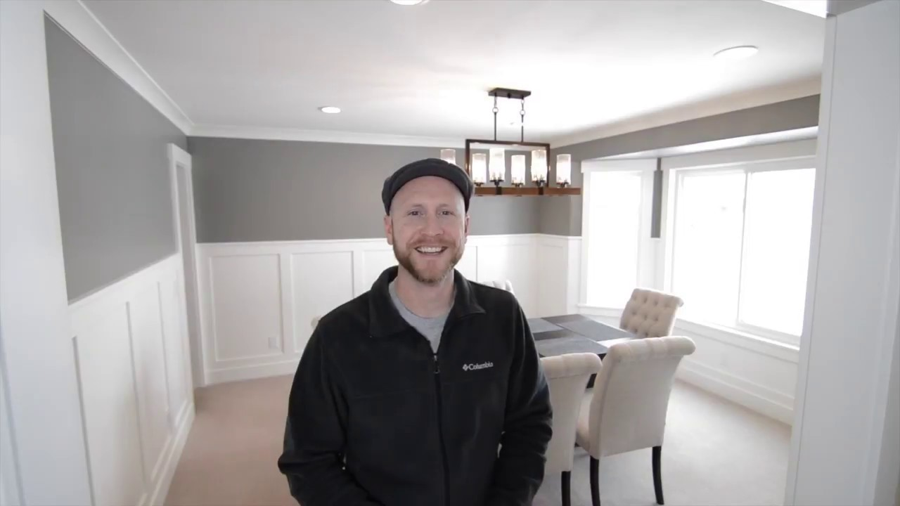 Charmant Dining Room Renovation, Wainscoting Or Board And Batten