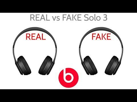 Fake Vs Real Beat By Dre Solo 3 Wireless Headphones Joesge Youtube