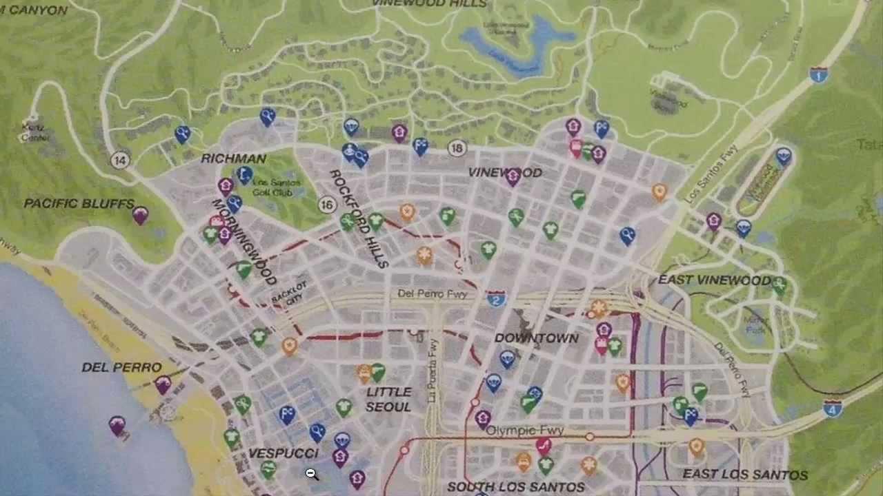 Map grand theft auto v - Map Grand Theft Auto V 33