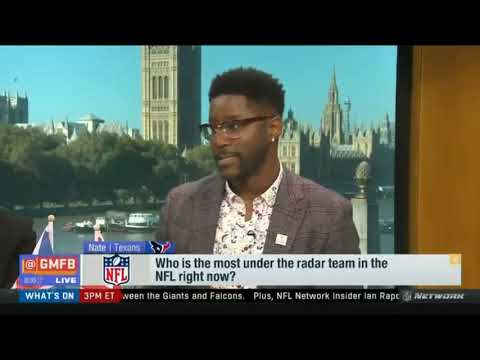 """At 5:13 of the video, Nate Burleson explains how BDE means """"Big Dude Energy"""" live on air"""