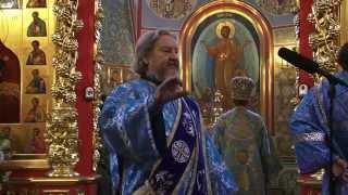 Отче наш читает протодиакон Геннадий Кузнецов.