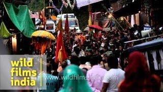 Procession of Nanda Devi Rath Yatra passes through Ghat Village in Chamoli, Uttarakhand