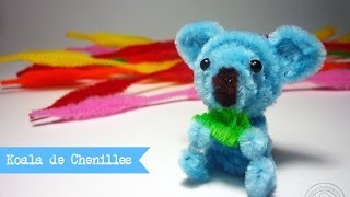 Repeat youtube video DIY   Koala con limpia pipas / pipe cleaner