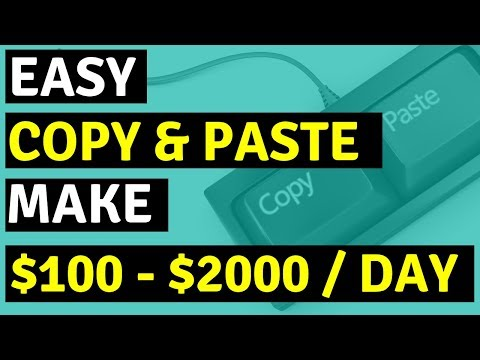 Earn $100 - $2000 A Day With Copy And Paste Programs Using A Google Twist.