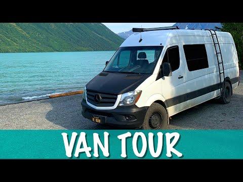 VAN TOUR: SELF CONVERTED SPRINTER VAN WITH SHOWER. FULL TIME VANLIFE.