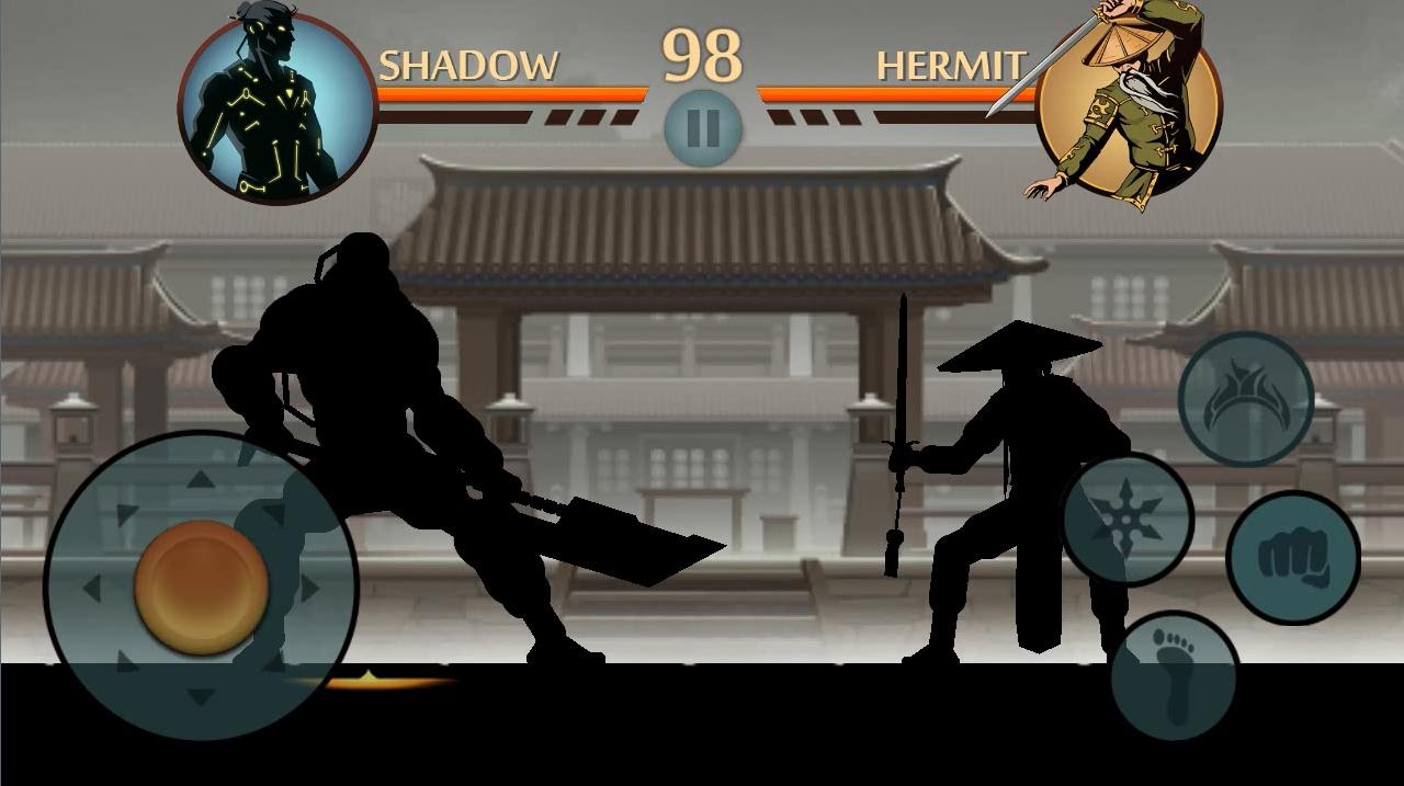 Shadow Fight 2 Titan Vs Hermit Youtube