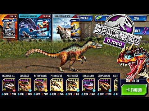 Evoluindo Tanycolagreus Vip + Eventos &  Melhor Time do YouTube ptBR JURASSIC WORLD O JOGO THE GAME