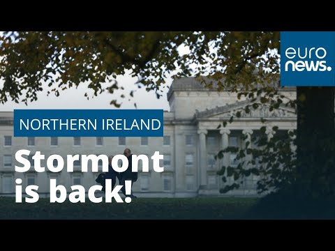 Northern Ireland Parliament Sits At Stormont After Three Years Of Deadlock