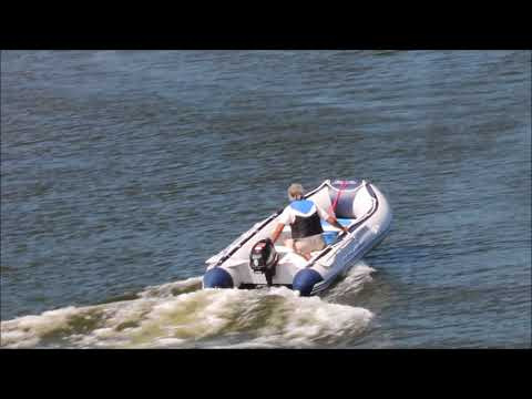 Testing Inflatable Boat Hydro Force With Berkley Outboard Motor.