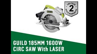 4813774 GUILD 185MM 1600W CIRC SAW With LASER