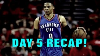 Russell Westbrook Posts the WORST 50-POINT TRIPLE DOUBLE in NBA HISTORY! NBA PLAYOFFS DAY 5 RECAP!