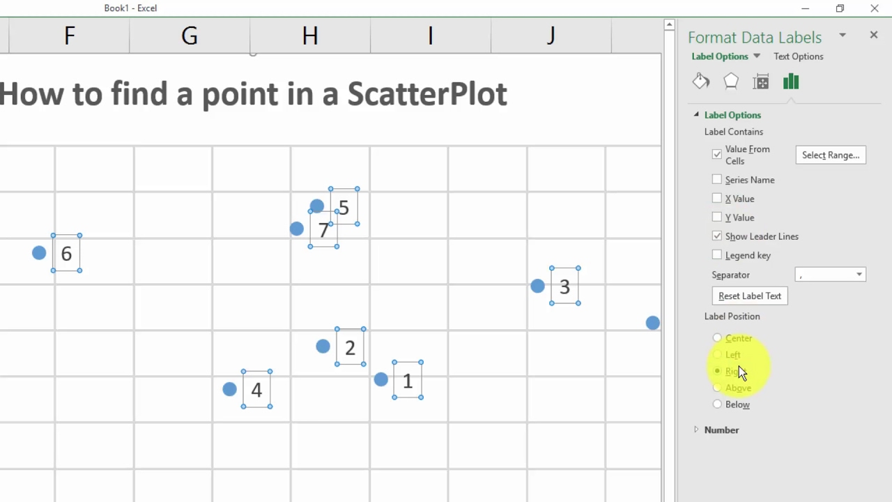 Excel how to identify  point in scatter plot also youtube rh
