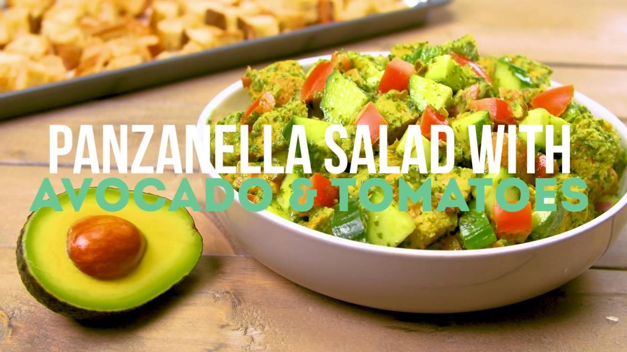 Panzanella Salad with Avocado and Tomatoes