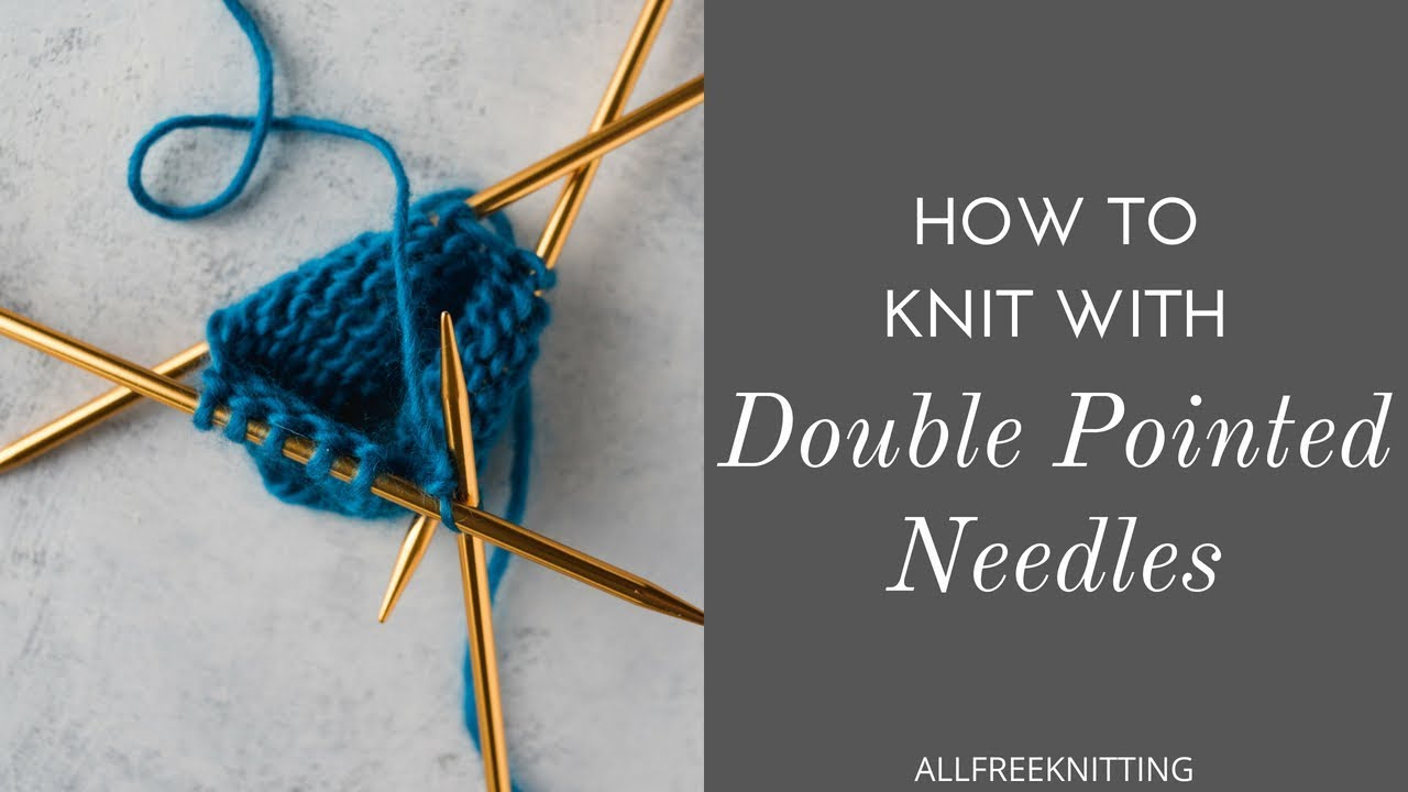 how to make a hat with double pointed needles
