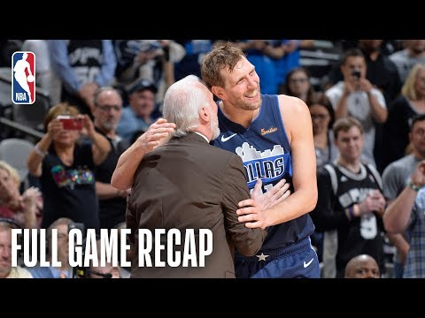 Bill Schoening - Spurs beat Mavs in Dirk Nowitzki's final game