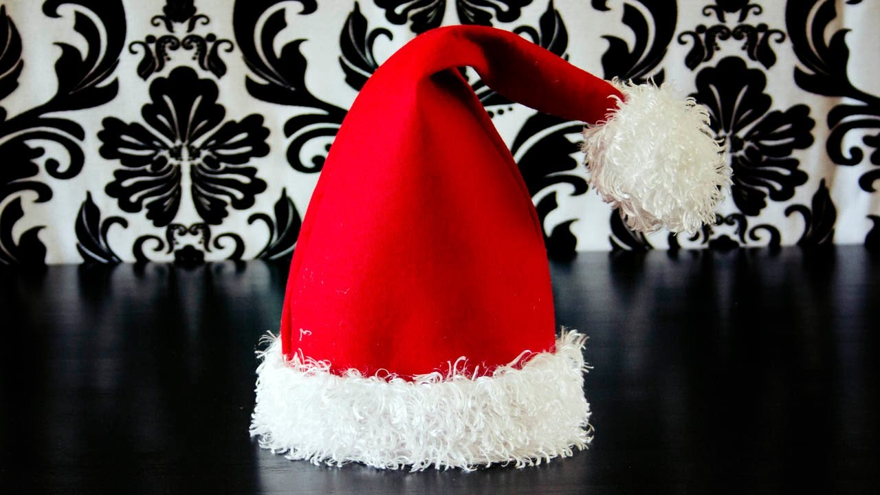 How to Make a Santa Hat. Fleece Fun a1cbfefb0a6