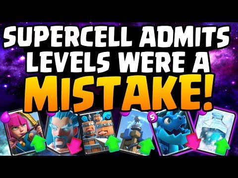 SUPERCELL ADMITS CARD LEVELS DON'T WORK! December Update | Clash Royale