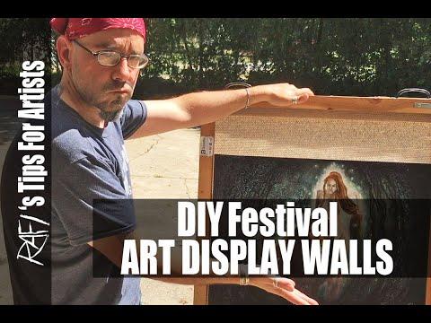 DIY Festival Art Display Walls Tips For Artists