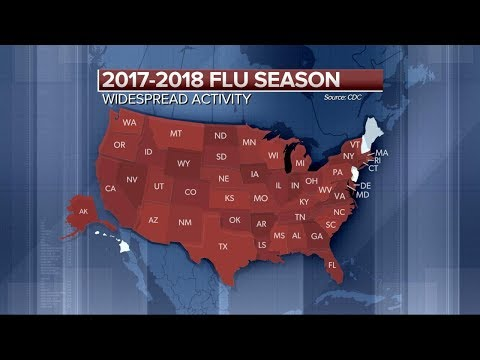 'Widespread' flu activity reported in 46 states