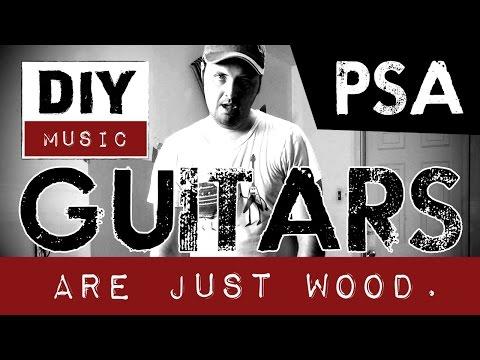 DIY guitar modifying mod modding cutting reshaping electric guitar - it's just wood.