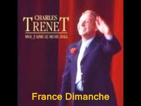 France Dimanche  Charles Trénet..