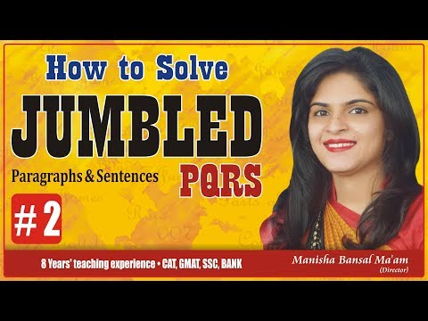 Sentence Rearrangement/ PQRS best tips and tricks video to solve by Manisha Bansal Ma'am Part #2