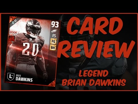 MUT 17 Card Review | Legend Brian Dawkins Gameplay + Card Review