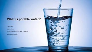 What is Potable Water?