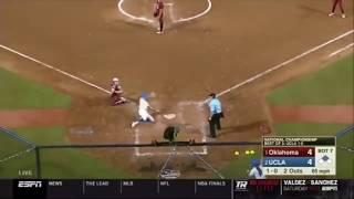 UCLA Walk Off Win vs Oklahoma | 2019 Women's College World Series