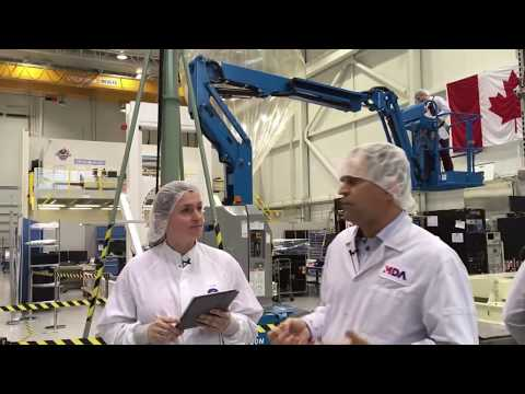 Behind-the-scenes tour of the MDA satellite testing facility