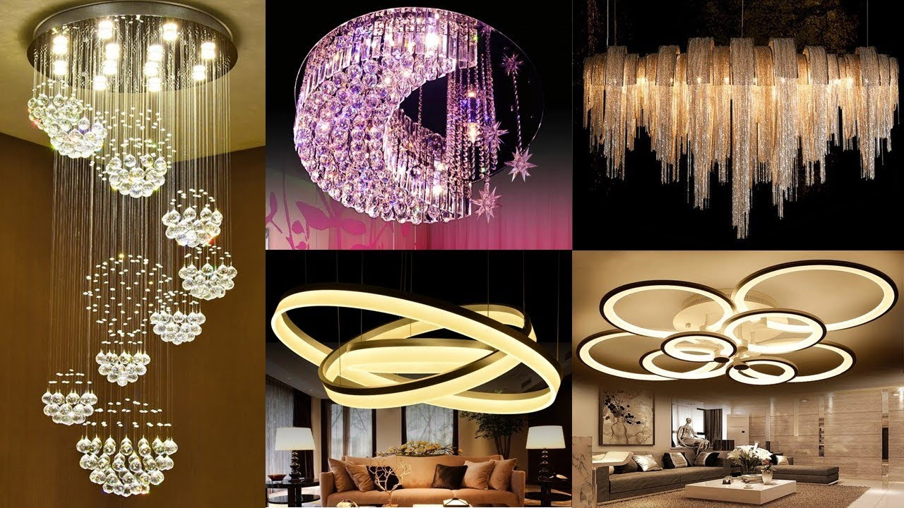 Modern LED Chandelier Design Collection New Jhumar Design  Home Decor  Ideas
