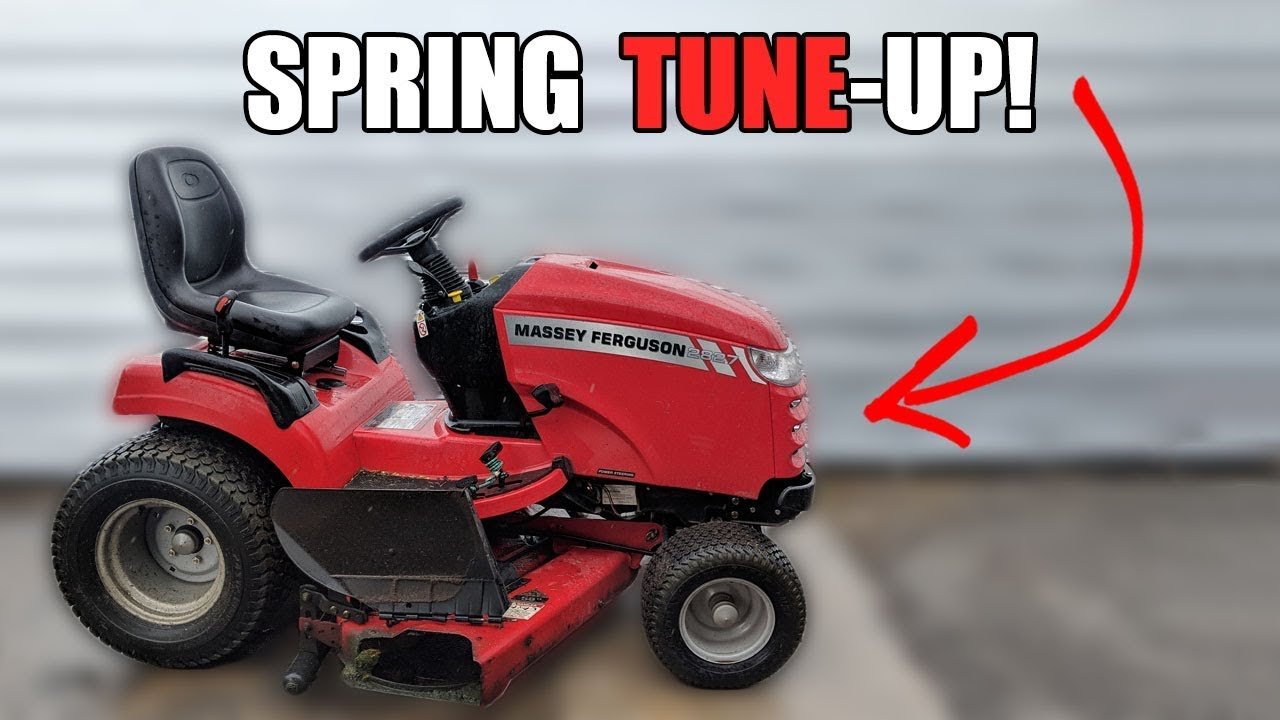 How to Service a Riding Lawnmower - Spring Tune Up