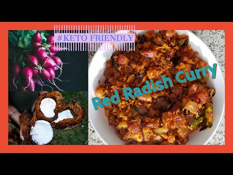 Red Radish curry Andhra Style| Keto Friendly | In English | Indian Recipe | Low-Carb