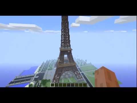 Эйфелева башня в Minecraft!.mp4