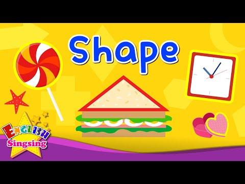 Kids vocabulary - Shape - Name of the Shape - Learn English for kids - English educational video