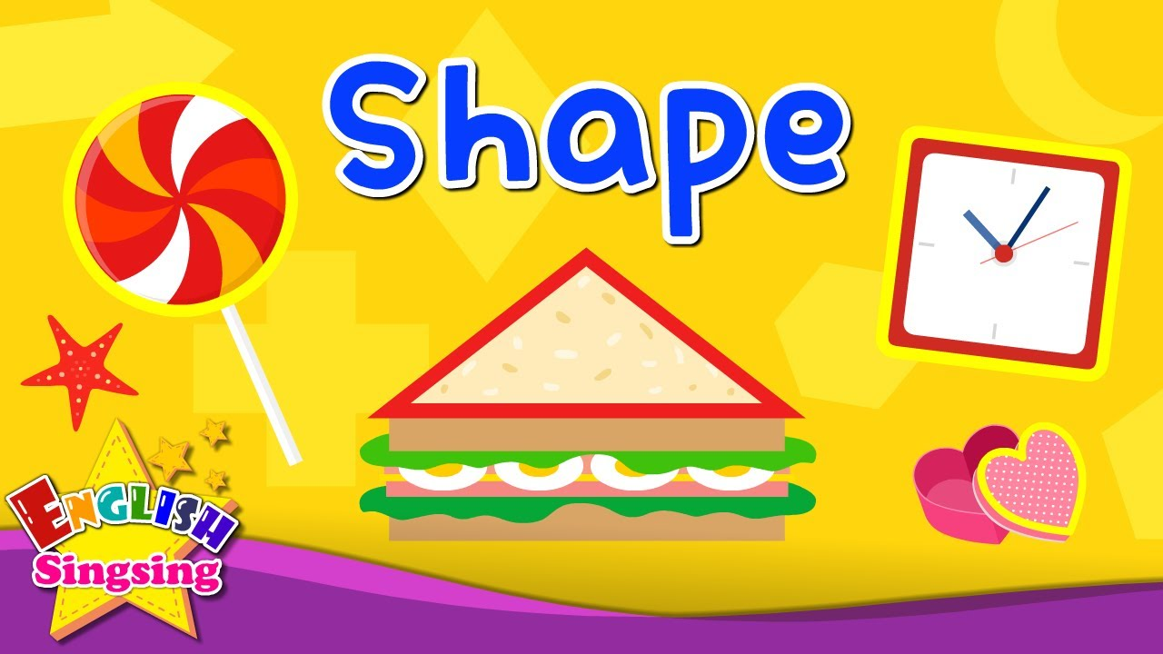 Kids Vocabulary Shape Names Of Shapes Learn English