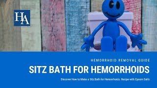 Discover How to Make a Sitz Bath for Hemorrhoids Recipe with Epsom Salts