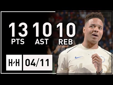 Markelle Fultz 1st Career Triple-Double Full Highlights 76ers vs Bucks (2018.04.11) - YOUNGEST EVER