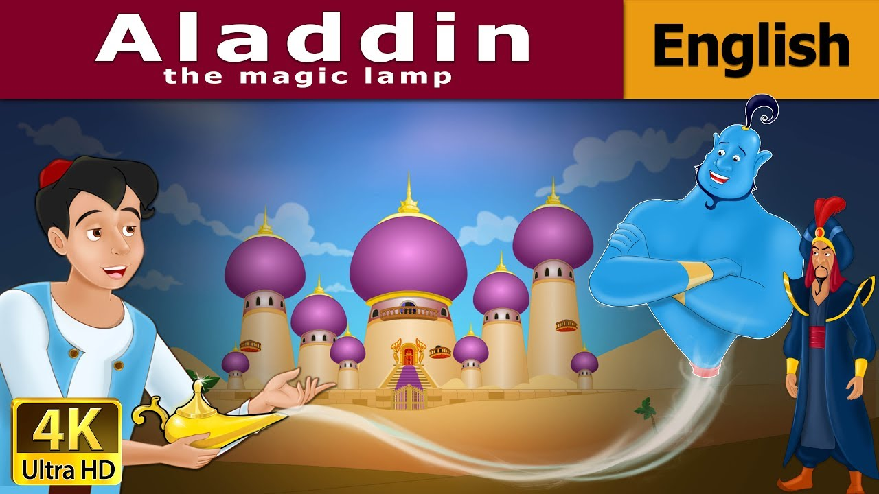 Aladdin and The Wonderful Lamp in English - Fairy Tales - Bedtime ... for Aladdin And The Magic Lamp Book  568zmd