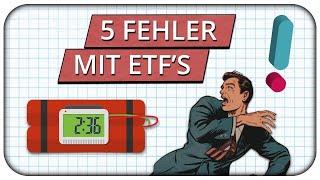 5 Fehler die Anleger mit ETFs machen - ETF Gefahren 🚨