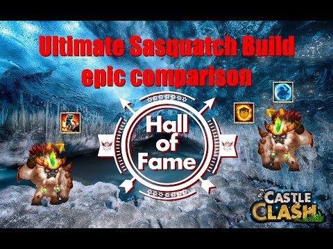 Ultimate Sasquatch Build Epic Comparison Castle Clash  Best Talent