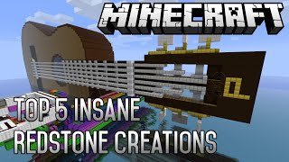 Top 5 Minecraft Most INSANE Redstone Creations of All Time! (January 2015) (1.8.1)