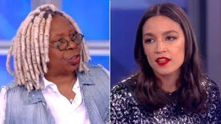 AOC BATTLES Whoopi Goldberg On The View After Whoopi Calls Her Out!